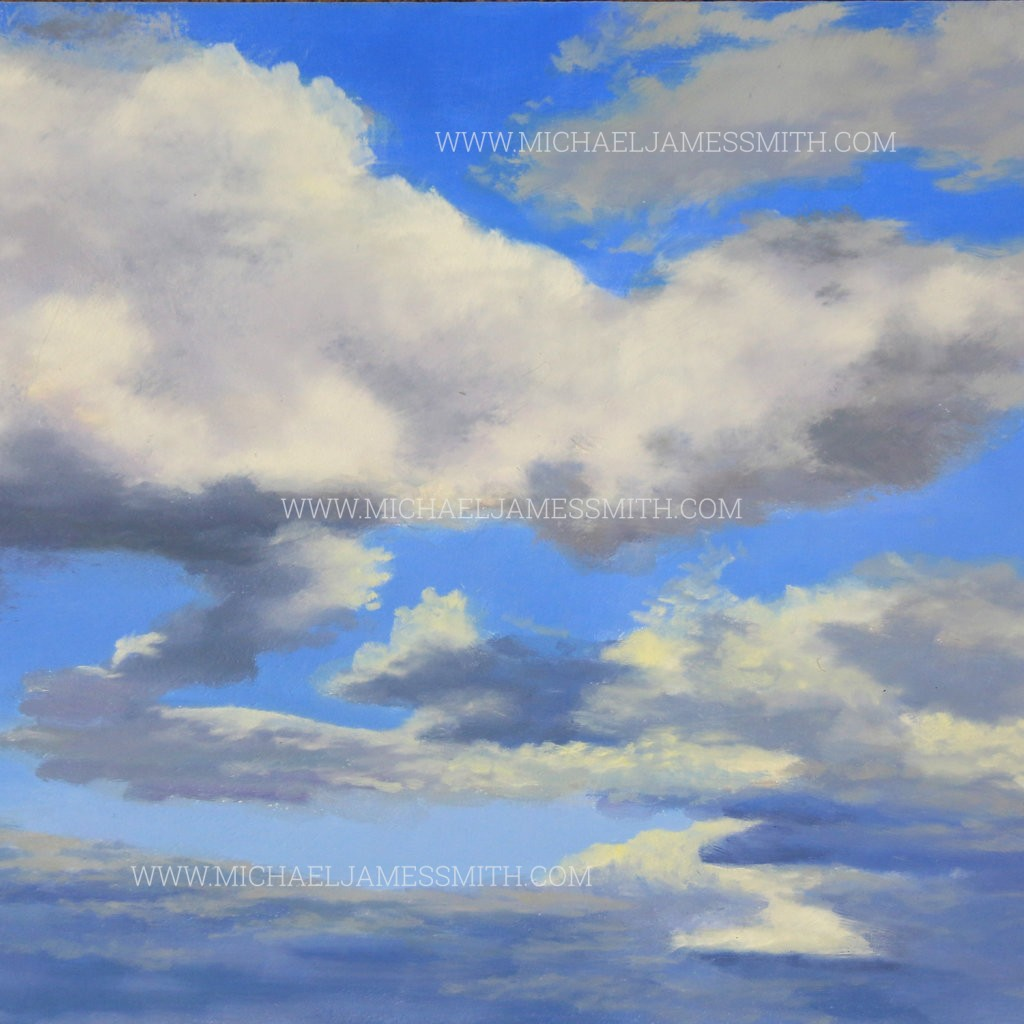 how to paint a cloudy sky